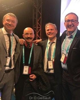 Dr Zholtikov, Dr Botti, Dr Gerbault et Dr Kovacevic.