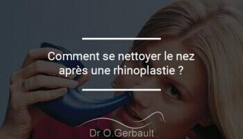 Nettoyer son nez après une rhinoplastie